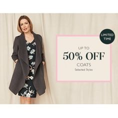 Up to 50% OFF Sale on Selected Styles Coats @ Jacqui E. - Bargain Bro