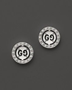 dee526dc59a Gucci 18K White Gold Icon Twirl Stud Earrings with Diamonds