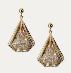 Melanie Georgacopoulos Couture Short Diamond Earrings