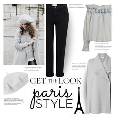 """Get the Look: Winter in Paris"" by flytotheworld ❤ liked on Polyvore featuring MSGM, Witchery, Current/Elliott and Betmar"