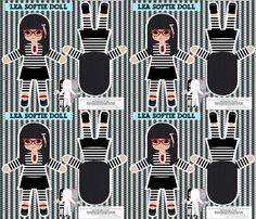 Harajuku play softie dolls fabric by katarina on Spoonflower - custom fabric