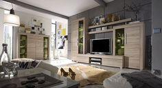 Ce magnifique ensemble de meubles TV couleur chêne clair impressionne par sa…