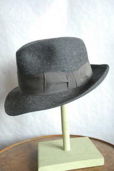Rare 60's Vintage Mossant Mixed Hair Felt Fedora Hat Grey UK 7 on Etsy, £54.99