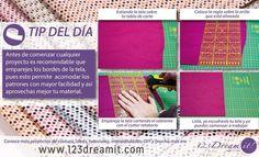 Antes de comenzar cualquier proyecto, es recomendable emparejar los bordes de la tela, pues esto te permite acomodar con mayor facilidad los patrones sobre la tela y también se aprovecha mejor.