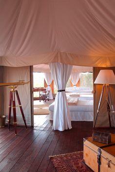 Tent at Hemingway Ol Seki Mara Camp, Masai Mara Nationalpark, Kenya