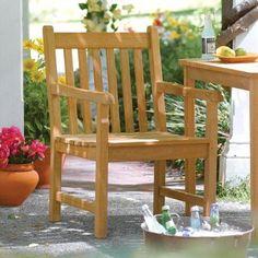 Outdoor Oxford Garden Classic Shorea Wood Dining Arm Chair - CDCH, Durable