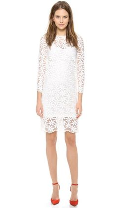 Karla Spetic Floral Embroidered Organza Dress