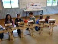 Constructions Kapla à l'école de Saint Etienne sur Reyssouze avec le Centre Kapla Animation Lyon