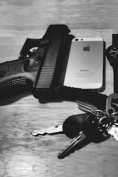 Let me see... keys? Yes. Iphone? Uhmm... Oh there it is. Check. Gun? Yep. Looks like I got everything