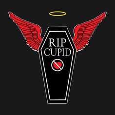 RIP Cupid Tees on TeePublic http://bit.ly/1v14BF0 #AntiValentinesDay #AntiLove #RIPCupid #RestInPeaceCupid #Cupid #Tshirts #Tees #TeePublic