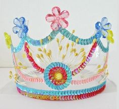KidsPartyKitchen - Fairies - Royal coloured crowns