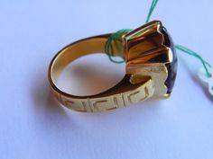 anello in argento925placcato oro 18kt topazio di libertygioielly, €130.00