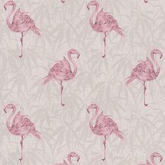 Contour Pink Flamingo Wallpaper- at Debenhams.com