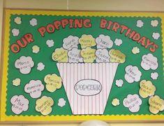 Popcorn Birthdays Bulletin Board - MyClassroomIdeas.com