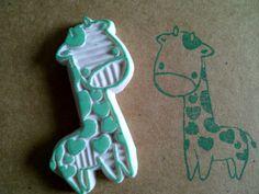 heart giraffe - rubber stamp by dunkleLamm.deviantart.com on @DeviantArt