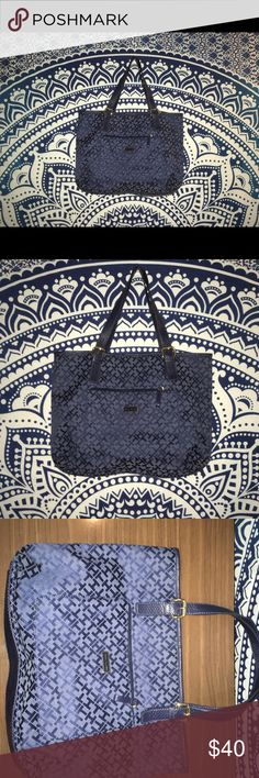 Tommy Hilfiger Blue Monogram H Larger Shopper New Without Tags Tommy Hilfiger Bags Totes