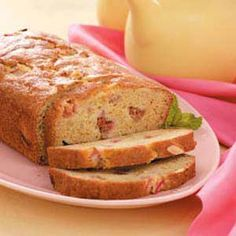 Orange-Rhubarb Breakfast Bread Recipe?..cut down the sugar, but the orange juice and zest makes this bread to die for. Works with frozen rhubarb too.