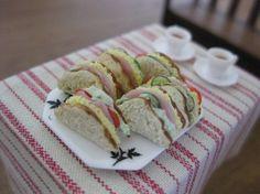 Miniature sandwiches.