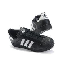 Chaussures Adidas Superstar baskets mixte noir