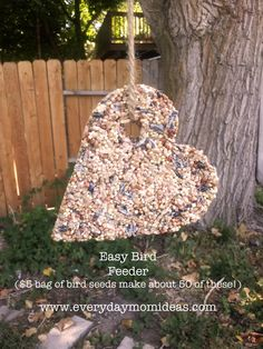 Easy Bird Feeder Craft - Halloween Goodies in a Pumpkin Shape?