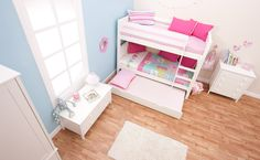 Best Online Prices On Stompa Classic Kids White Bunk Bed With Trundle Bed. Have Your Stompa Classic Kids White Bunk Bed With Trundle Bed delivered by bedstardirects experienced delivery team. Low Bunk Beds, Girls Bunk Beds, White Bunk Beds, Double Bunk Beds, Kid Beds, Trundle Bed Mattress, Bunk Bed With Trundle, Mattresses, Girl Room