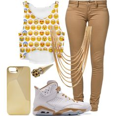 emoji outfits - love it Lit Outfits, Girly Outfits, Dope Outfits, Outfits For Teens, Tomboy Outfits, Summer Outfits, Really Cute Outfits, Cute Outfits For School, Pretty Outfits