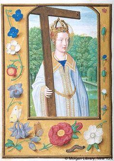 Border of medallions- Medieval Manuscript Images, Pierpont Morgan Library, Da Costa hours (MS M.399). MS M.399 fol.330v