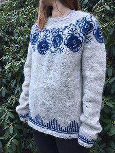 Ravelry: Royal Copenhagen Sweater pattern by Danish Knitting Academy by Karen Krogsgaard Fair Isle Knitting Patterns, Sweater Knitting Patterns, Knitting Yarn, Royal Copenhagen, Cozy Sweaters, Sweaters For Women, Mug Cozy Pattern, Karen, Knit Picks