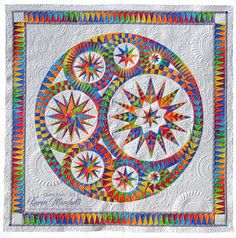 I just finished Maureen's Infinity quilt ( pattern by Jacqueline de Jonge/Be Colourful )and it is gorgeous! Yes, I went a little over budge...