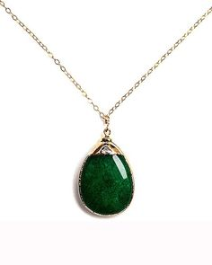 I want this! Love the color emerald, and the gem - my birthstone!