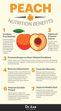 Peach nutrition benefits - Dr. Axe http://www.draxe.com #health #holistic #natural