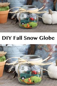 Make this easy fall mason jar for your home! A fun autumn decoration that is easy to make! #crafts #masonjar #fall #autumn Fall Arts And Crafts, Autumn Crafts, Fall Crafts For Kids, Thanksgiving Crafts, Thanksgiving Decorations, Fall Decorations, Fall Mason Jars, Mason Jar Crafts, Mason Jar Diy