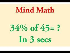 Percentage Trick - Solve precentages mentally - percentages made easy with the cool math trick! Cool Math Tricks, Easy Magic Tricks, Maths Tricks, Math Hacks, Mental Math Tricks, Math Tips, Science Tricks, Fun Math Games, Math Activities