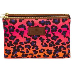 Otis Batterbee Fold Over Wash Bag - Pink Leopard Print (2 145 UAH) ❤ liked on Polyvore featuring beauty products, beauty accessories, bags & cases, pink, toiletry kits, travel make up bag, leopard print cosmetic bag, travel makeup bag and dop kit