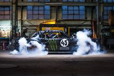 Ken Block's 1965 Ford Mustang, 850 HP all-wheel drive, insane...  Check out the video on You Tube.