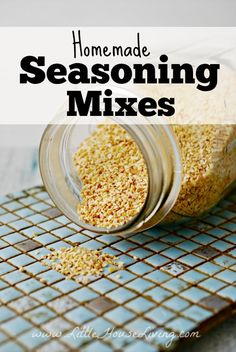 Homemade Seasoning Mixes. Some great ideas here for several DIY mixes!