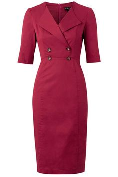 Farringdon Pencil dress in port Mode Outfits, Office Outfits, Dress Outfits, Women's Fashion Dresses, Girl Fashion, Classy Dress, Work Attire, Dress Patterns, African Fashion
