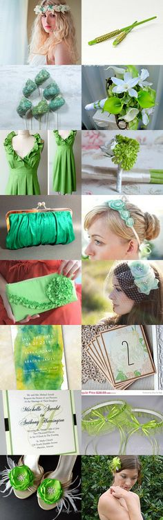 Shades of Green by blueorchidcreations on Etsy--Pinned with TreasuryPin.com