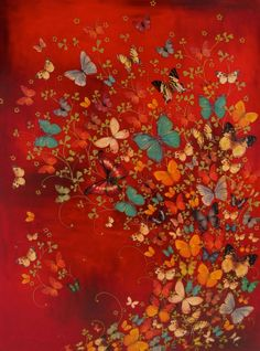 Faith is Torment   Art and Design Blog: Butterflies: Paintings by Lily Greenwood