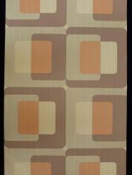 cubes brun orange papier peint retro de www.funkywalls.be