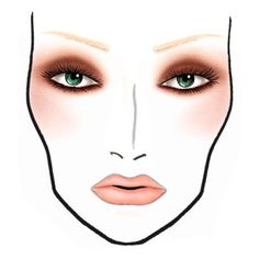 The following face charts are from MAC Cosmetics