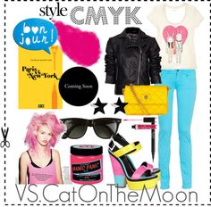 """""""CMYK style"""" by veronica-sinetti on Polyvore"""