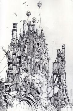 scotchcornerart: Random doodling. Ian Mcque