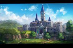 "minionslayer: "" Screenshot Study Legend of Zelda : Ocarina of Time Hyrule Castle "" The Legend Of Zelda, High Fantasy, Fantasy World, Video Game Art, Video Games, Deku Tree, Castle Tattoo, Kids Castle, Fictional Heroes"