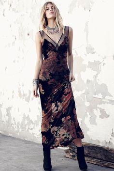 Dusty Rose Burnout Dress