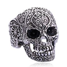 Punk Style Silver Skull Ring