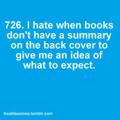 If it's not there and I can't Amazon-in, I don't want to commit to reading it. lol