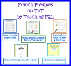 Parlez-vous français? Freebies and lessons on Teachers Pay Teachers by Teaching French as a Second Language curriculum author