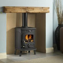 Installing a wooden mantel above a wood-burning stove - Wood Burning Fireplace Inserts Wooden Mantel, Wood, Stove, Wood Burning Fireplace Inserts, Hearth, Wood Burning Stove, Inglenook Fireplace, Fireplace Logs, Wood Stove