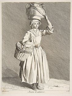 Young Milkmaid Anne Claude Philippe de Tubières, Comte de Caylus (French, Paris 1692–1765 Paris)  Artist:     After Edme Bouchardon (French, Chaumont 1698–1762 Paris) Date:     1737